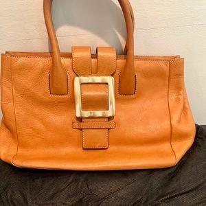 Adrienne Vitadini leather satchel.